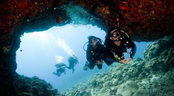 Scuba Dive in Cave