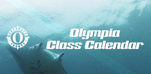 Olympia Calendar Banner - Olympia Scuba lessons