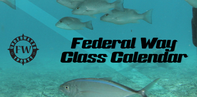 Federal Way Calendar Banner - Federal Way Scuba lessons