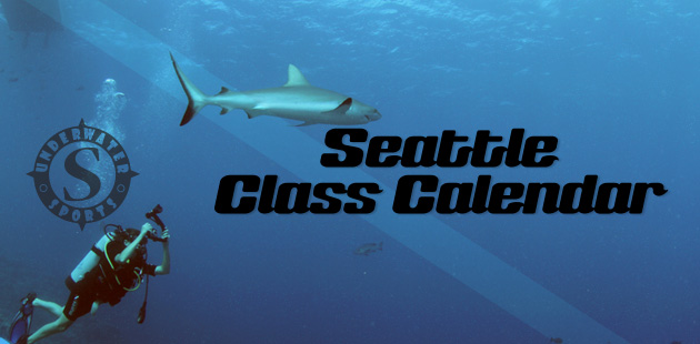 Seattle Calendar Banner - Seattle Scuba lessons