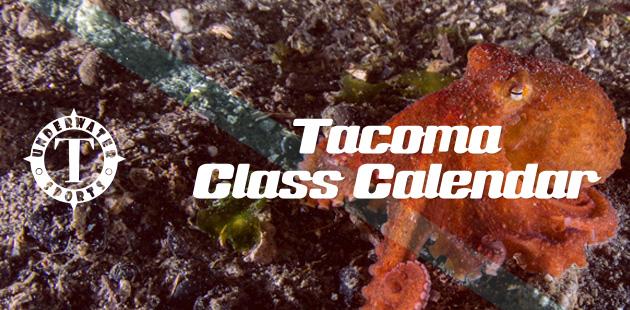 Tacoma Calendar Banner - Tacoma Scuba lessons