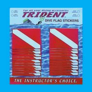 dive flag sticker 2-pack