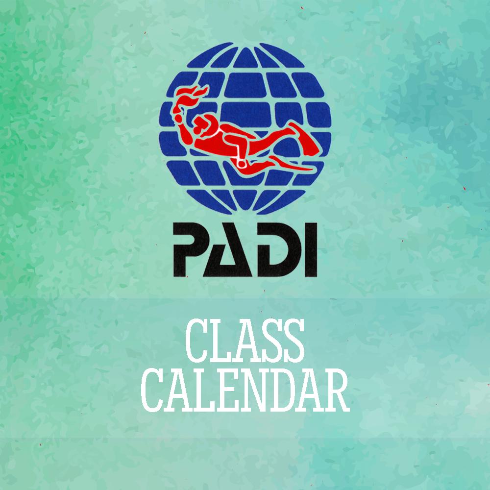 Underwater Sports Padi Class Calendar